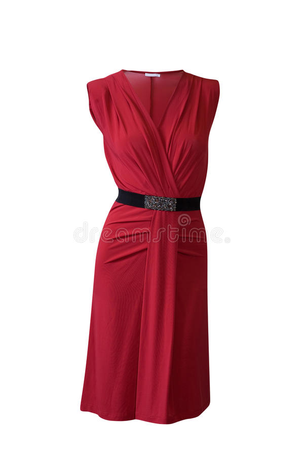 Purple red dress stock photography