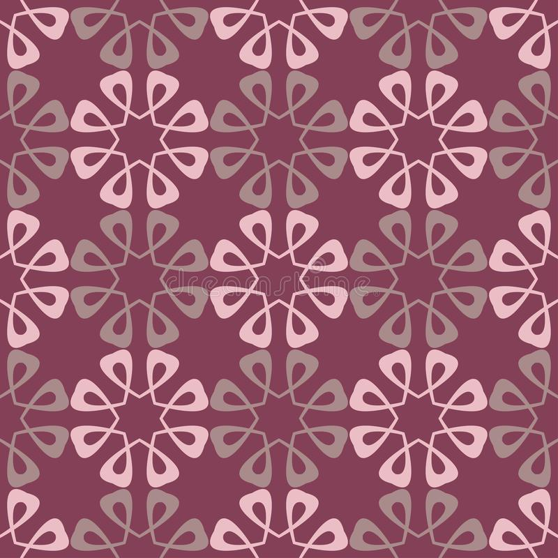 Purple red floral seamless pattern. Background with flower design elements vector illustration