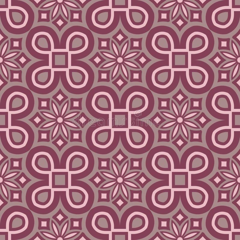 Purple red floral seamless pattern. Background with flower design elements royalty free illustration