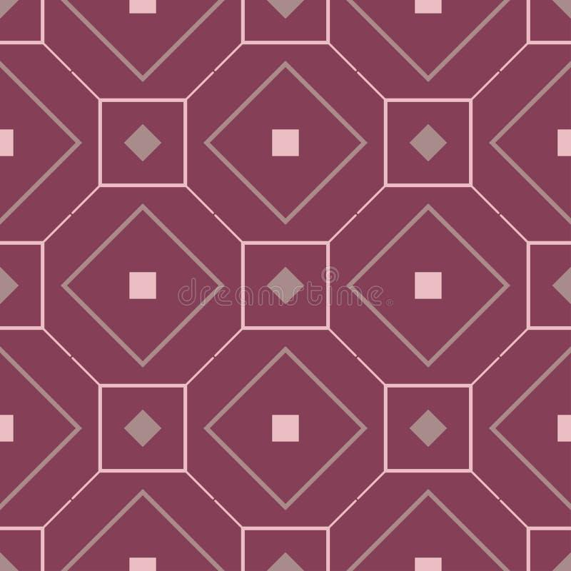 Purple red geometric seamless background. Dark deep red background royalty free illustration