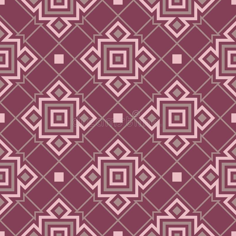 Purple red geometric seamless background. Dark deep red background vector illustration