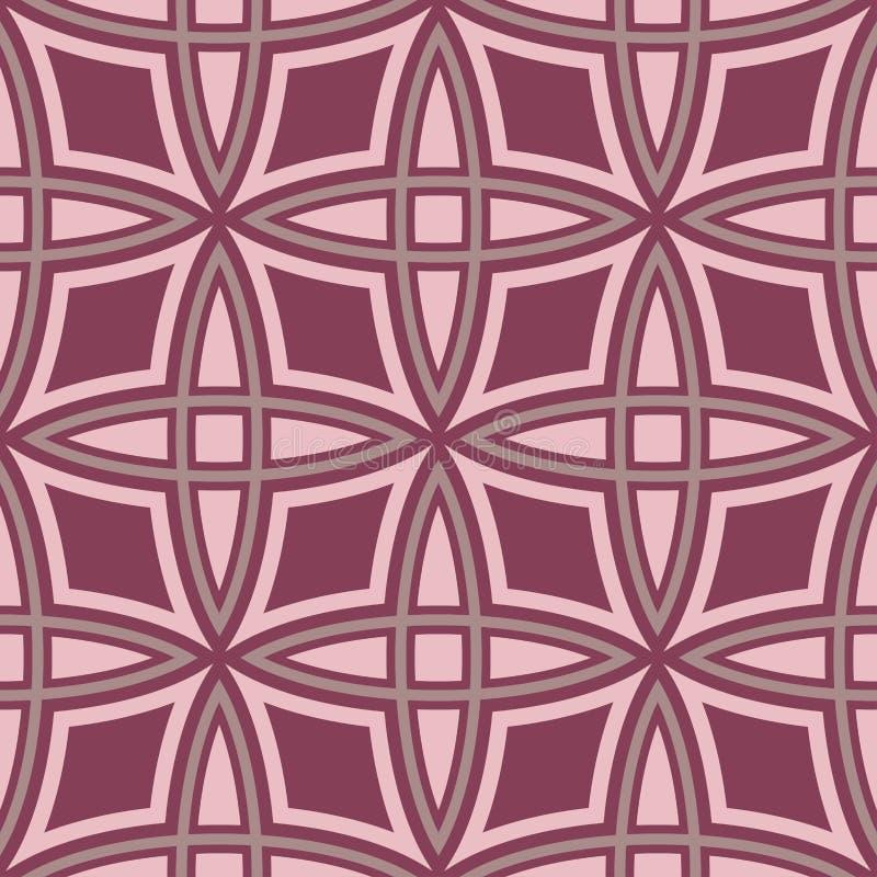 Purple red geometric seamless background. Dark deep red background stock illustration