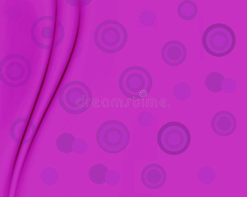 Purple Retro Circles. Background of fun purple retro circles pattern with added folds for depth design stock illustration