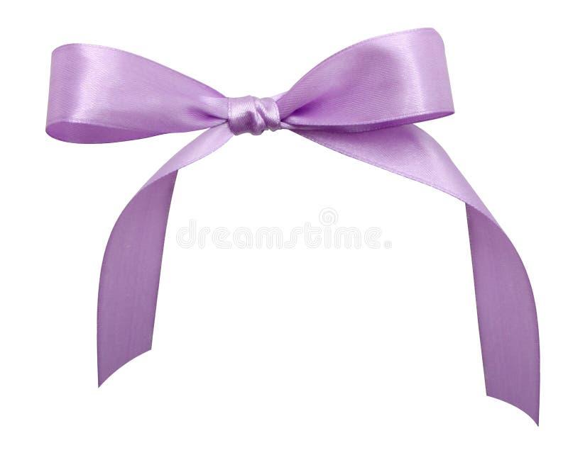 Purple ribbon royalty free stock photos