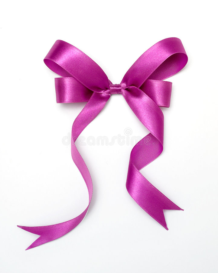 Purple ribbon stock images