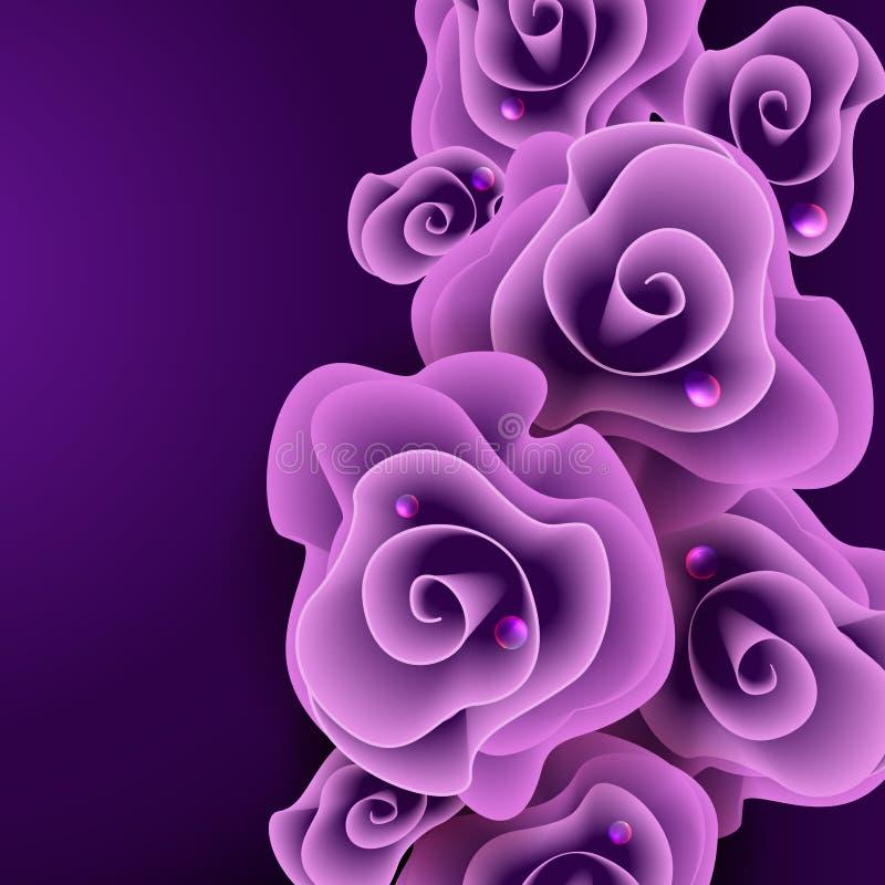 Purple Rose Background. stock illustration