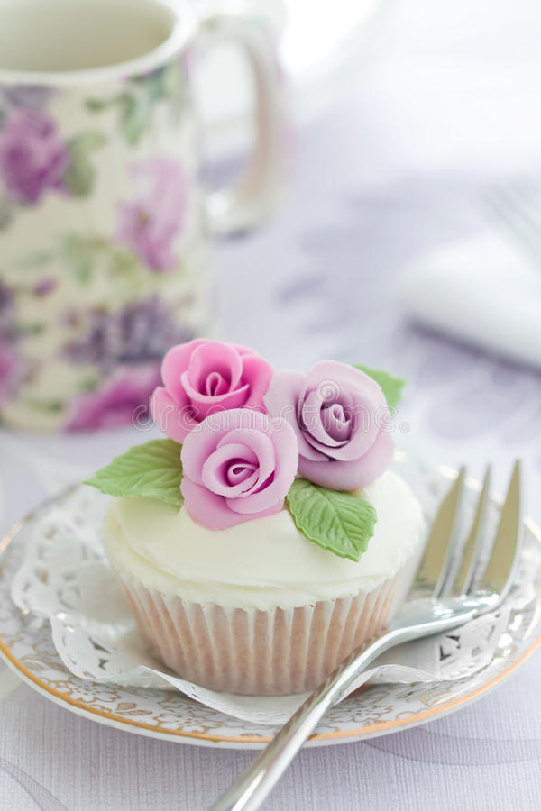 Download Purple rose cupcake stock image. Image of fairy, frosted - 12719493