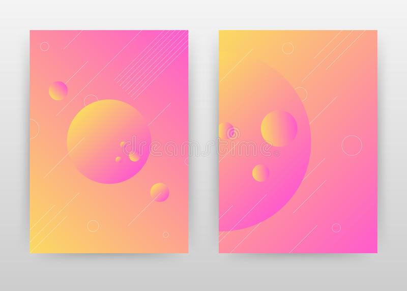 Purple round earth element business annual report brochure flyer design. Round abstract brochure template, include cover and back royalty free illustration