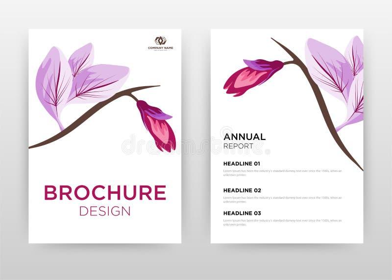 Purple saffron flower petal design for annual report, brochure, flyer, poster. saffron on white background vector illustration for. Flyer, leaflet, poster royalty free illustration