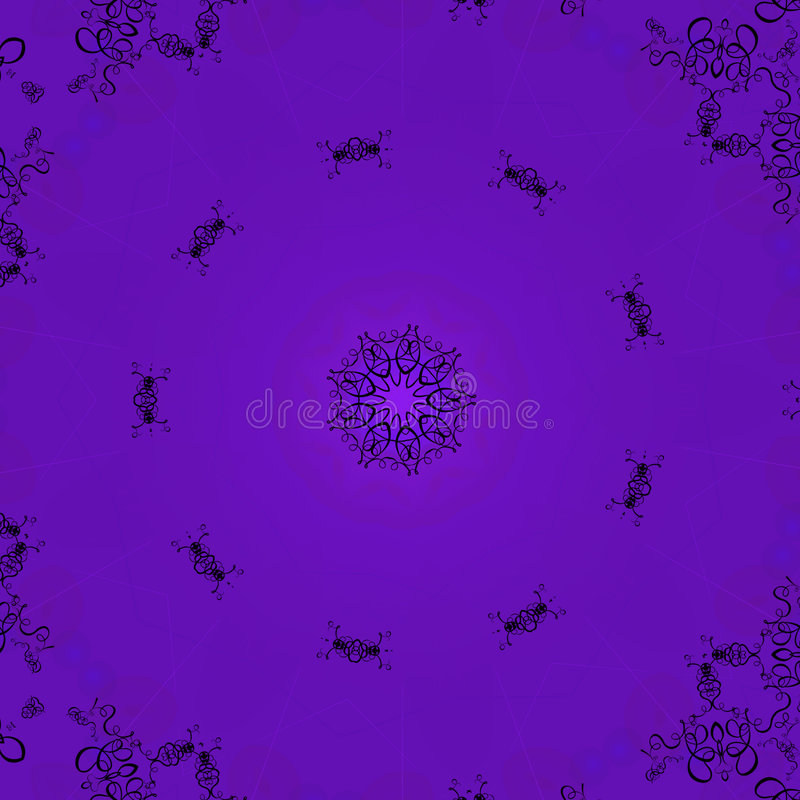 Free Purple Scroll Pattern Background Stock Image - 620281