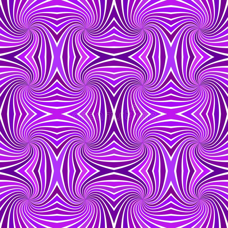 Purple seamless abstract psychedelic spiral stripe pattern background - vector illustration. Purple seamless abstract psychedelic spiral stripe pattern vector illustration