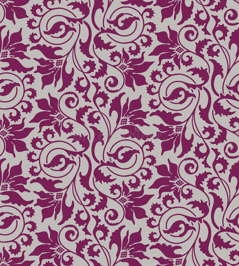 Download Purple Seamless Flower Damask Background Stock Images - Image: 13842774