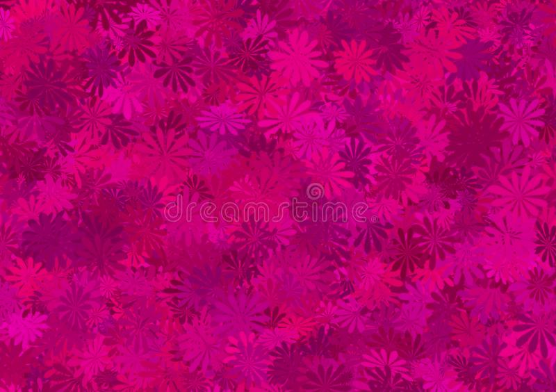 Purple shade floral pattern layered wallpaper. For use as background image with design abstract art backdrop brushes canvas colorful computer cover dark depth royalty free illustration