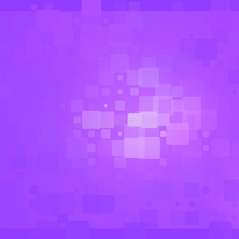 Purple shades glowing rounded tiles background stock photo