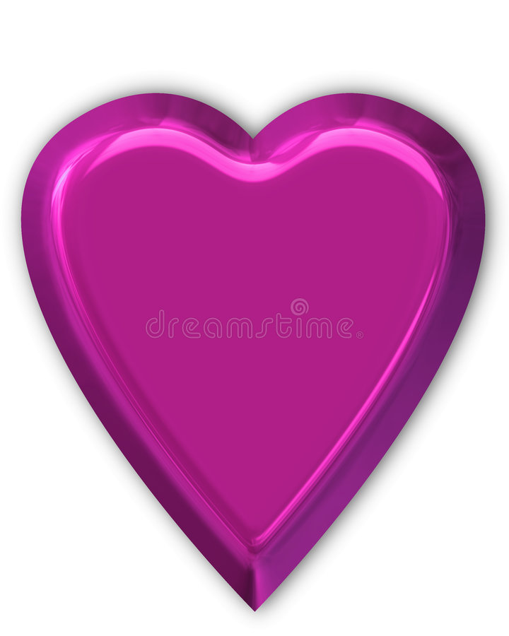 Purple shiny heart royalty free illustration