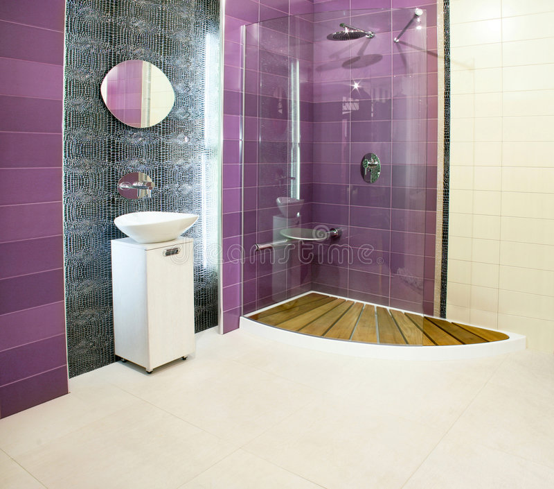 Purple shower royalty free stock photos