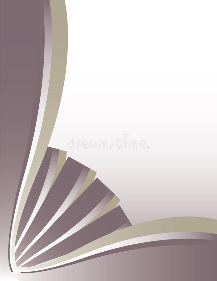 Purple silver page stock illustration