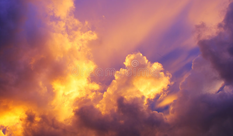 Purple sky royalty free stock photo