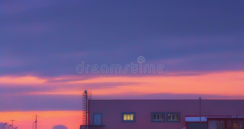 Purple Sky Background stock photo