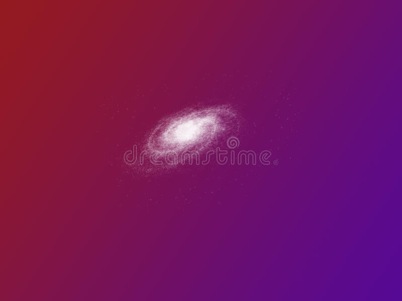 Purple Sky With Galaxy Stock Images