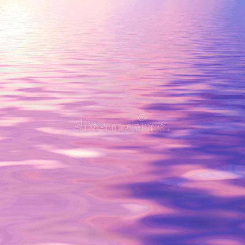 Purple sky reflected in water. Natural landscape with purple sky reflected in water royalty free stock image