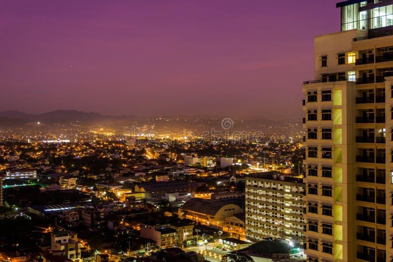 Purple sky. Taken at Manila Philippines stock image