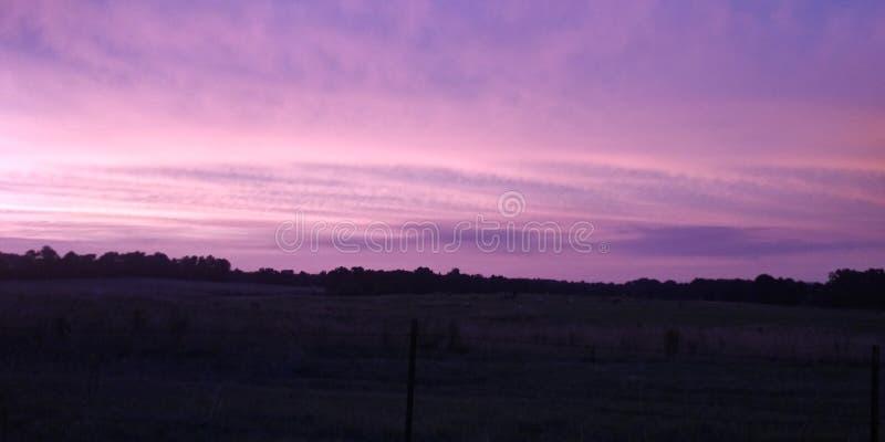 Purple sky. Violet, tennesesse, dusk royalty free stock photo