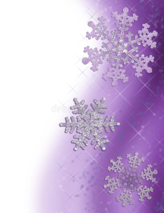 Download Purple Snowflake Border stock illustration. Illustration of sparkling - 3033925