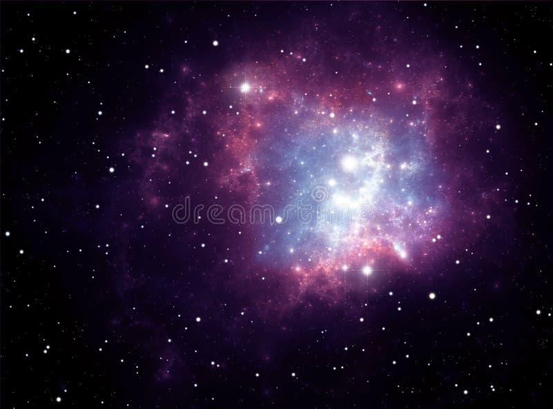 Purple space star nebula stock illustration