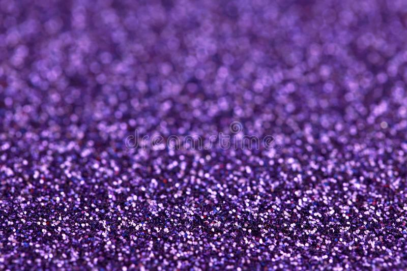Purple Sparkle Glitter background. Holiday, Christmas, Valentines, Beauty and Nails abstract texture. Purple Sparkling Glitter background. Holiday, Christmas stock photography