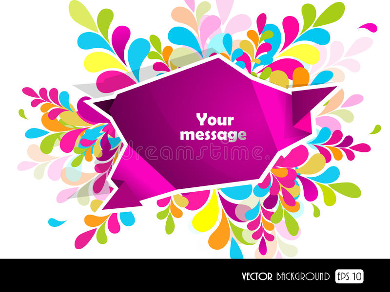 Download Purple Speech Bubble For Your Text. Stock Illustration - Image: 24397978