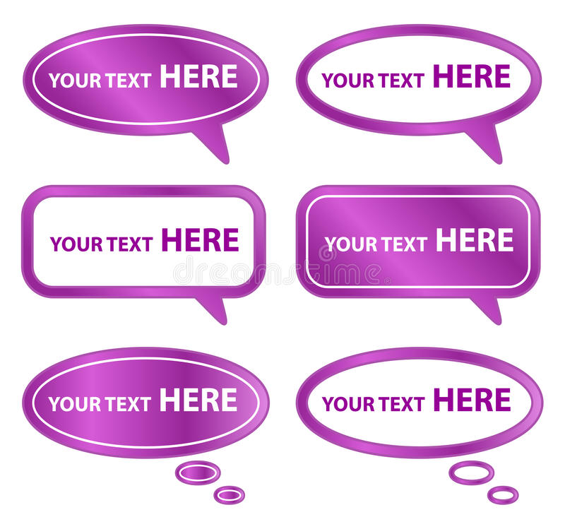 Download Purple Speech Bubbles stock vector. Image of bacground - 26068134