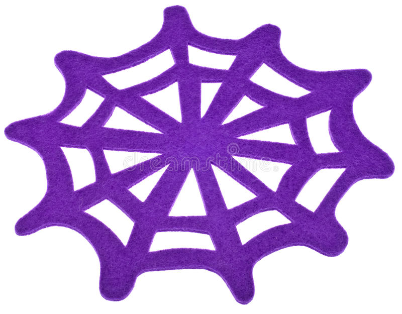 Purple Spider Web Royalty Free Stock Images