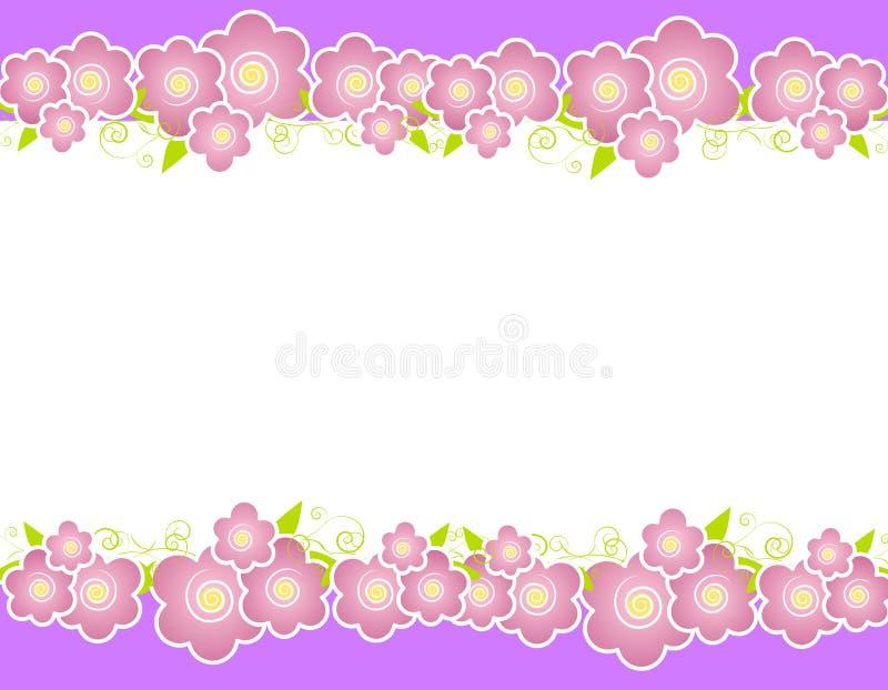 Purple Spring Flowers Border Royalty Free Stock Photos
