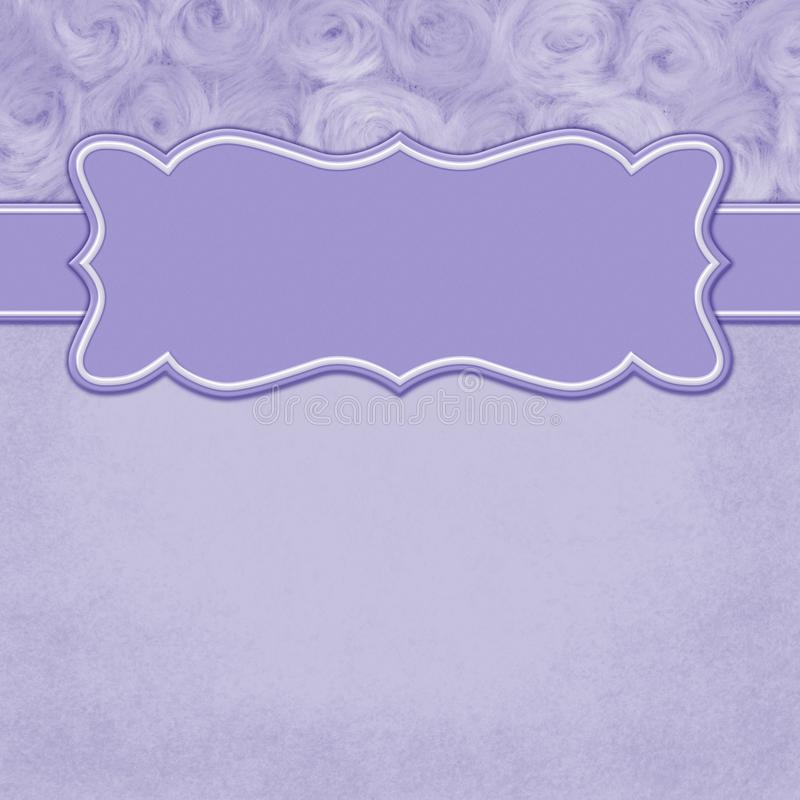 Purple square border with rose plush fabric with copy space. Purple with square border with rose plush fabric with copy space for your message and a banner stock illustration