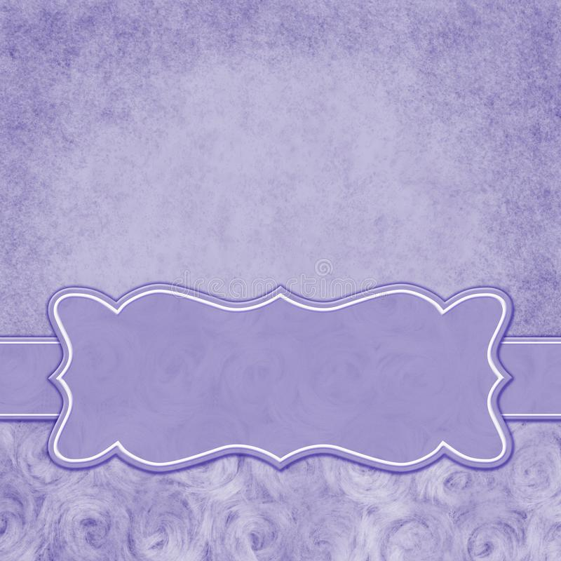 Purple square border with rose plush fabric with copy space. Purple with square border with rose plush fabric with copy space for your message and a banner vector illustration