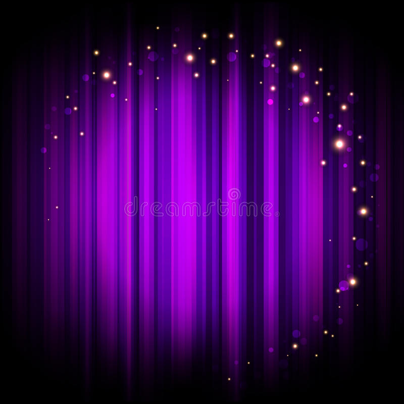 Download Purple Stage Background With Lights Stock Vector - Illustration: 35115900