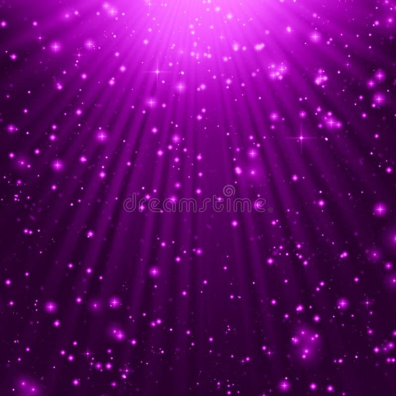 Download Purple stars background stock illustration. Illustration of illuminated - 34393117