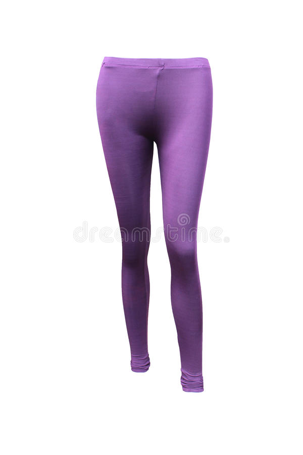 Purple stretch pants on isolated royalty free stock images
