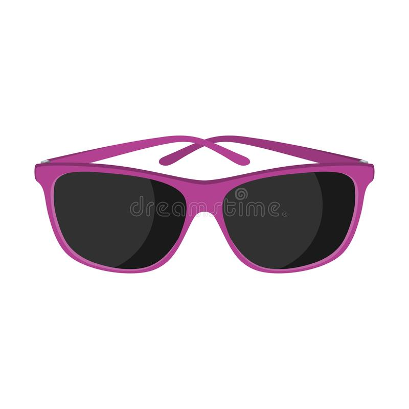 purple sunglasses r r διανυσματική απεικόνιση
