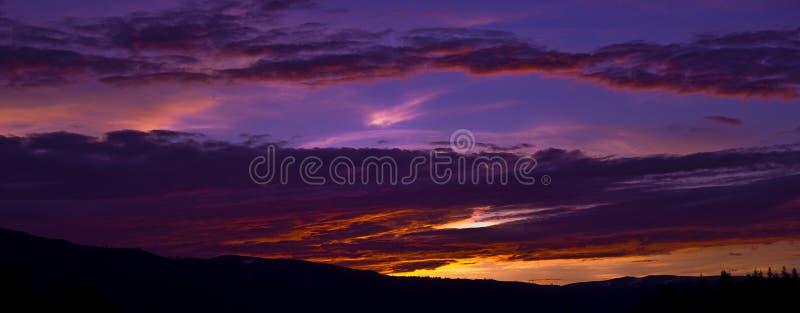 Purple sunrise stock photo