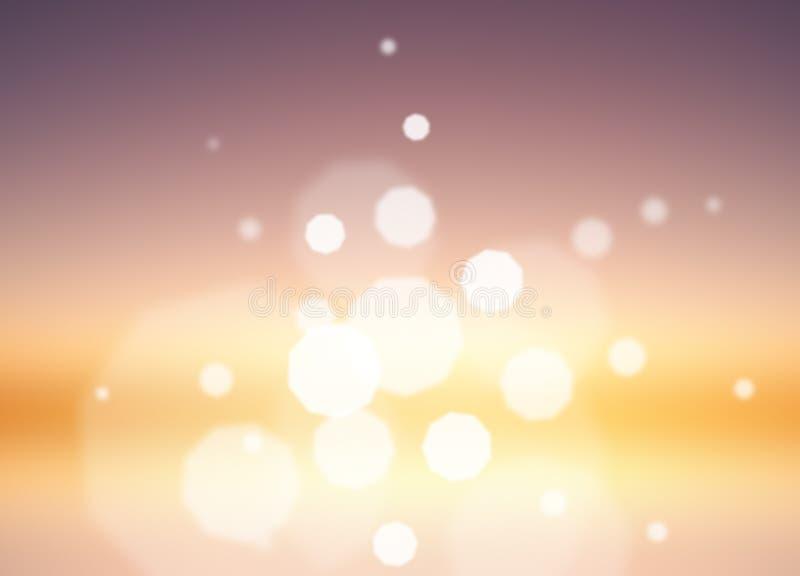 Purple sunrise bokeh royalty free stock photo