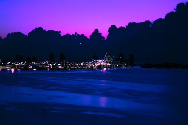 Purple sunrise royalty free stock images