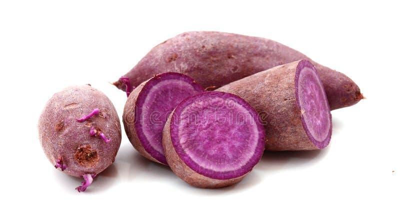 Purple sweet potato. Prepared, heap stock photo