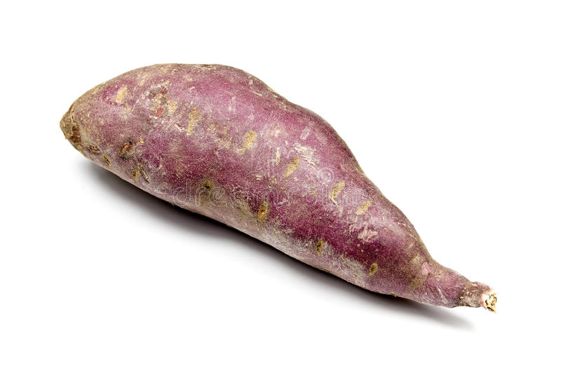 Purple Sweet Potato. On a white background royalty free stock images