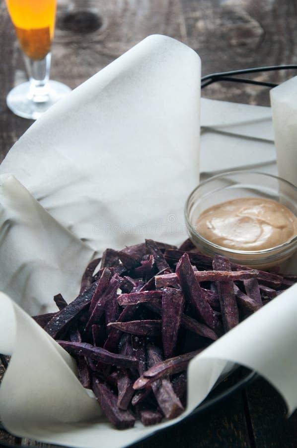 Purple Sweet Potato Fries stock image