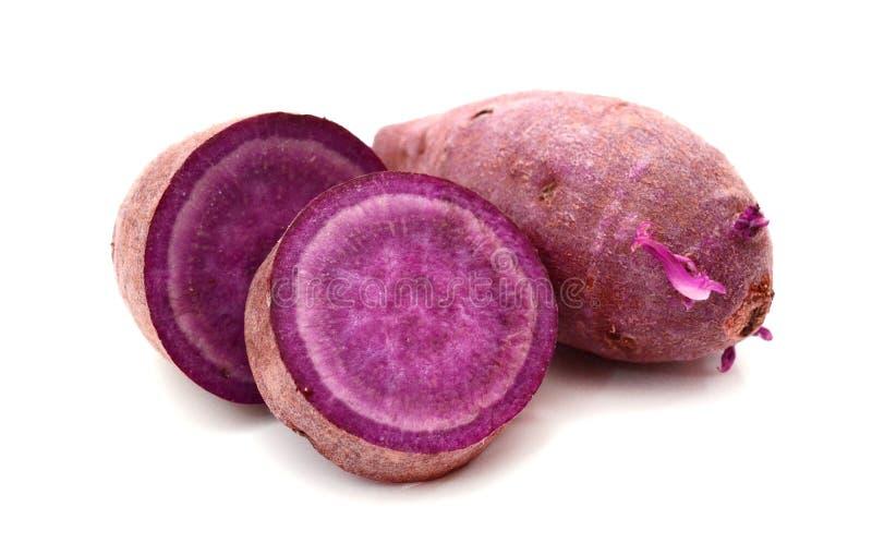 Purple sweet potato. Prepared, heap royalty free stock photo
