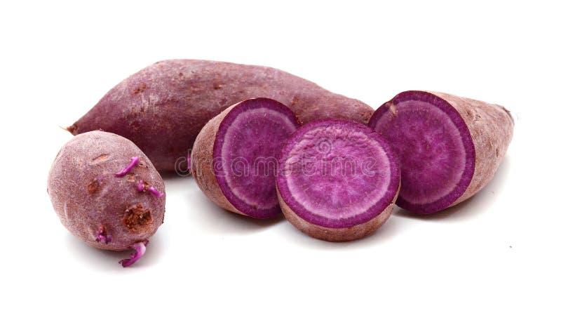 Purple sweet potato. Prepared, heap stock photography