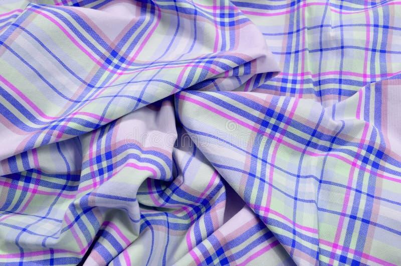 Download Purple Tartan Pattern On Crumpled Fabric. Stock Image   Image Of  Decor, Check