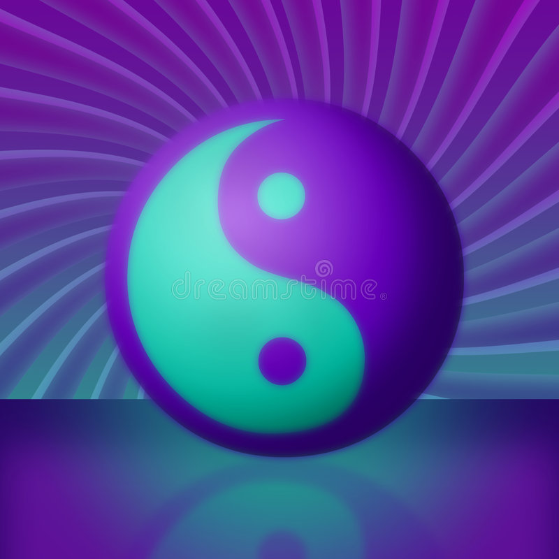 Purple & Teal Yin Yang Vortex